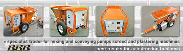 specialist trader for mixing pumps and plastering machines